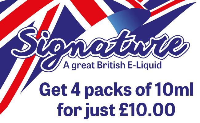 Signature 10ml E-liquids - 4 for £10.00